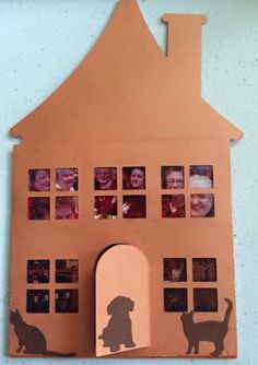 A Silhouette Cameo cut card - featuring photos of the ladies that come to my home to craft and my craft room.