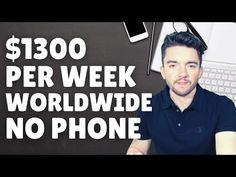 $1300/Week Worldwide Work-From-Home Jobs No Phone 2021