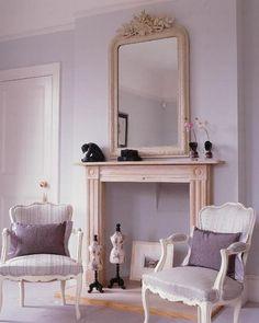 Lavender walls.
