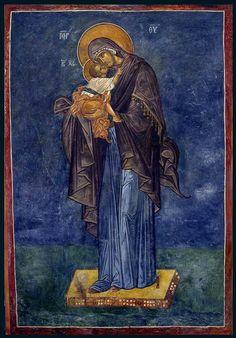 The Panagia and Theotokos holding the Christ Child Byzantine Art, Byzantine Icons, Catholic Art, Catholic Saints, Religious Icons, Religious Art, Russian Icons, Divine Mother, Archangel Michael