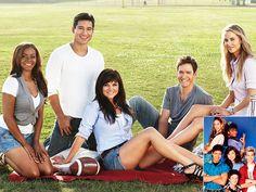 Reunited! - SAVED BY THE BELL -  Lark Voorhies, Mario Lopez, Tiffany Thiessen, Mark-Paul Gosselaar and Elizabeth Berkley: People.com