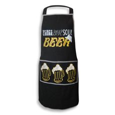 Men's Grill Apron - Peace Love Soul Beer Bed Bath and Beyond $19.99