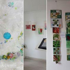 Correspondance textile de Christiane et Anne Marie. Exposition à l atelier jusqu'au 25 avril 2017