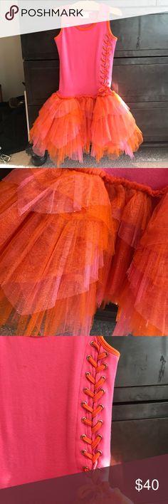 OOH LA LA dress!! Super cute little girl orange and pink tutu dress. No flaws. Worn once! ooh la la Dresses