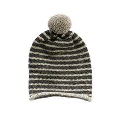 Bristol pom-pom hat by Fournier. Handmade in baby alpaca. Mens Hat Knitting Pattern, Knitting Yarn, Knit Patterns, Hand Knitting, Crochet Hats For Boys, How To Purl Knit, Pom Pom Hat, Knitting Accessories, Knitting Designs
