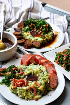 ... : STAMPPOT BOERENKOOL   MASHED POTATOES WITH SHREDDED KALE + sausage
