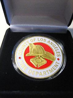 Los angeles #county fire dept #commemorative #challenge coin with gift box,  View more on the LINK: http://www.zeppy.io/product/gb/2/371536274244/