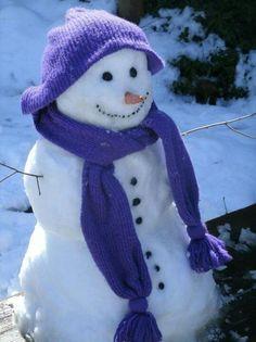 Happiest snowman in town