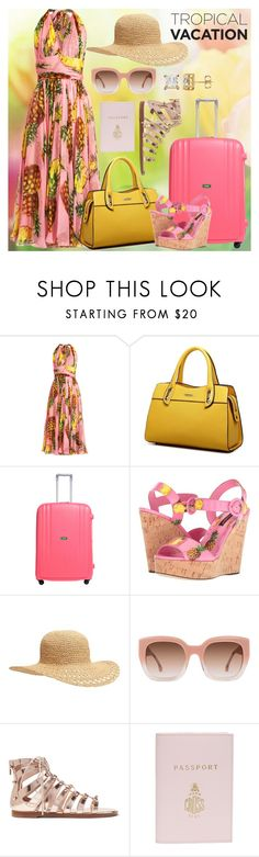 """""""Going Away!"""" by mellow30 ❤ liked on Polyvore featuring Dolce&Gabbana, Lojel, Old Navy, Alice + Olivia, Jimmy Choo and Mark Cross"""
