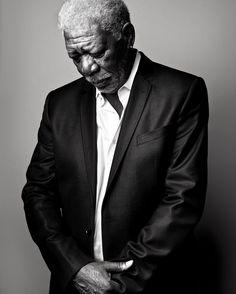 Morgan Freeman (1937) - American actor, film director, and narrator. Photo by Marco Grob