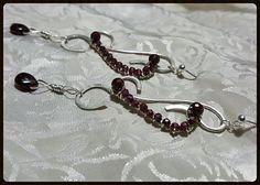 Garnet Sterling Silver Chandelier Earrings by Esther Destiny's Jewelry