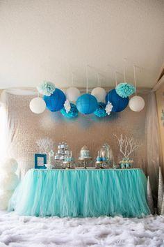 Aqua Blue Tutu Table Skirt Custom Made Wedding Supplies Sashes Tulle Wedding Party Decorations Tutu Table Skirt Winter Wonderland Party