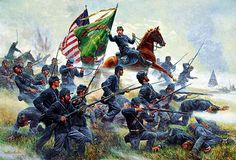 69th New York volunteer Infantry, commonly know as The Irish Brigade, fighting at Antietam, the single bloodiest day in US history.