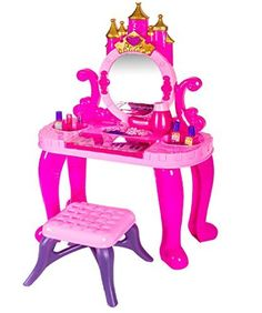 Dress-Up Toy Vanities - Kids Authority Deluxe Princess Beauty Vanity Set Piano  Kids Keyboard Piano Set * Visit the image link more details.