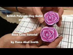 How to make a Rose Cane - Polymer Clay Tutorial - YouTube