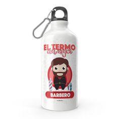 Termo - El termo del mejor barbero, encuentra este producto en nuestra tienda online y personalízalo con un nombre. Water Bottle, Drinks, Barbers, Carton Box, Bottles, Store, Crates, Drinking, Beverages