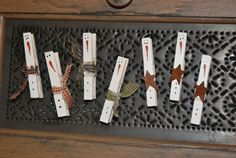 Snowmen clothes pin magnets - I am so going to make these - cute!