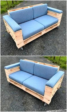 Spectacular Diy Projects Pallet Sofa Design Ideas For You 14 Pallet Furniture Designs, Pallet Garden Furniture, Diy Pallet Sofa, Diy Outdoor Furniture, Furniture Ideas, Wooden Furniture, Garden Pallet, Cheap Furniture, Diy Couch