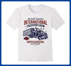 Mens International Trucking Show Retro T-Shirt Medium White - Retro shirts (*Amazon Partner-Link)