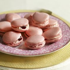 Mary Berry's pink macaroons for Breast Cancer Awareness month www.handbag.com