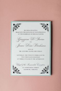 Baroque Embellished Wedding Invitation Features A Back Pocket For Housing Important Inserts Bar Mitzvah Invitations