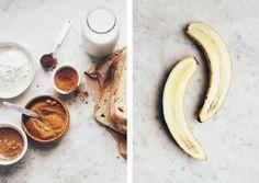 Le Passe Vite: Vegan Französisch Toast mit karamellisierten Bananen und Butter Hasel :: Vegan Französisch Toast mit karamellisierten Bananen-und Haselnuss-Butter