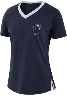 f5be1ab97cce2 Nike Penn State Nittany Lions Womens Navy Blue Basketball Fan Short Sleeve  T-Shirt - 125101147