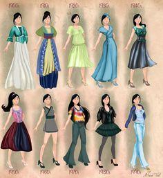 mulan in 20th century fashion #mulan #disneyprincess #disney