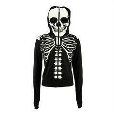 Außergewöhnlich cooler Hoodie mit einem gewissen Gruselfaktor! Denn der Skelett-Print leuchtet im Dunkeln, so bist Du unter deinesgleichen immer gut sichtbar. Und mit der verschließbaren Kapuze bringst Du den Effekt bis zum Horror-Limit!