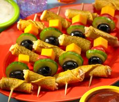 """""""Kool"""" Kids Kabobs - yummy and easy Mexican food #recipe #kids will love!"""