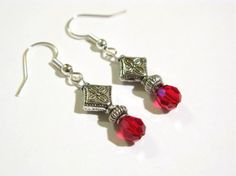 Elegance In Red Earrings by earringsgirl on Etsy