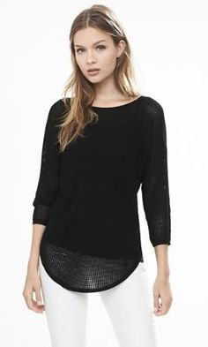 open stitch dolman sweater from EXPRESS