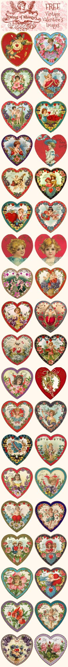 Wings of Whimsy: Valentine Hearts to Use for DIY Projects (see next 3 pins) - free for personal use