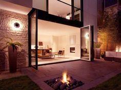 Patio design modern fire pit idea #firepit #exterior #patio #decoratingideas #cozy #decor #garden #backyard #fire #design #decorhomeideas