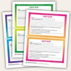 Use these FREE exit slips to reinforce daily learning targets and get immediate feedback from students!  Crunched for time? Try the 0–3 rating scal...