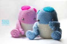 Baby Quaggans the Cutest Creatures from Guild Wars 2 Universe - Free Amigurumi Pattern here: http://crafts.madhat.ru/2015/02/baby-quaggans-crochet-tutorial-eng-ver.html