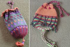 american indian Crochet | Triangles Bag , Spring 1998, and Spiral Bag , Summer 1998