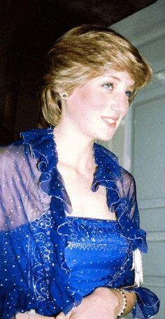 Lady Diana Queen of Hearts — Princess Diana Blue Dress Spam At The Royal...