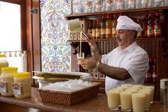 'Boza is a popular fermented beverage in Kazakhstan, Turkey, Kyrgyzstan, Albania, Bulgaria, Macedonia, Montenegro, Bosnia and Herzegovina, parts of Romania, Serbia, Ukraine, Poland, Lithuania. It is a malt drink, made from fermented wheat in Turkey. It has a thick consistency and a low alcohol content (usually around 1%), and has a slightly acidic sweet flavor.' http://www.lonelyplanet.com/turkey