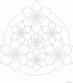 Flower Mandala Design 18 > Flower Mandalas | 마음놀이터 - 힐링 그리고 성찰
