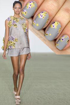 Giambattista Valli Spring '14 #nail #nails #nailart