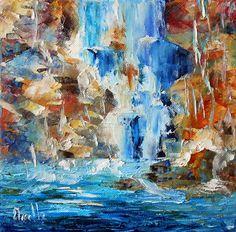 Cascade - Tableau d'Axelle BOSLER Artiste peintre