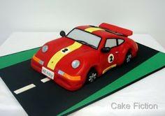 Cake Fiction: Porsche 911 Racing Car Birthday Cake