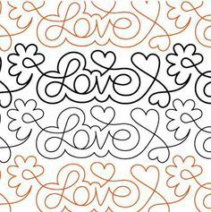 Love Notes pantograph pattern by Patricia Ritter of Urban Elementz