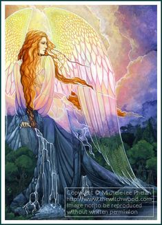 Of Earth, Air, Fire and Water by Michele-Lee Phelan Air Fire, I Believe In Angels, Angels Among Us, Angel Pictures, Guardian Angels, Angel Art, Faeries, Tarot, Fantasy Art