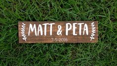 Personalised wedding sign, welcome sign, wedding signage, painted Rustic Wedding Alter, Rustic Wedding Save The Dates, Wedding Date Sign, Wedding Name, Wedding Props, Wedding Gifts For Couples, Rustic Wedding Signs, Wedding Signage, Wedding Ideas