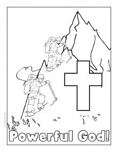 mt everest coloring pages | I Love VBS as a color sheet time filler before assembly ...