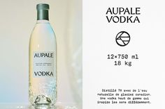 Wedge's identity for AUPALE combines the beauty of the extreme Canadian north with glacial chemistry — The Brand Identity Visual Identity, Brand Identity, Branding, Brand Symbols, Glacier, Under The Influence, Glass Texture, Bottle Design, Packaging Design Inspiration