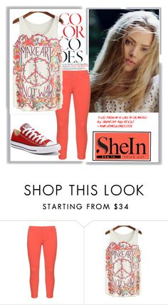 """""""SheLn"""" by eemiinaa ❤ liked on Polyvore featuring NYDJ and Converse"""