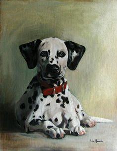 Cappy the Dalmatian, pet portrait - Oil painting on Canvas www.juliepfirsch.com